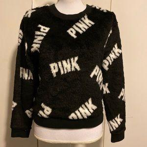 Pink Faux Fur sweatshirt size Xs